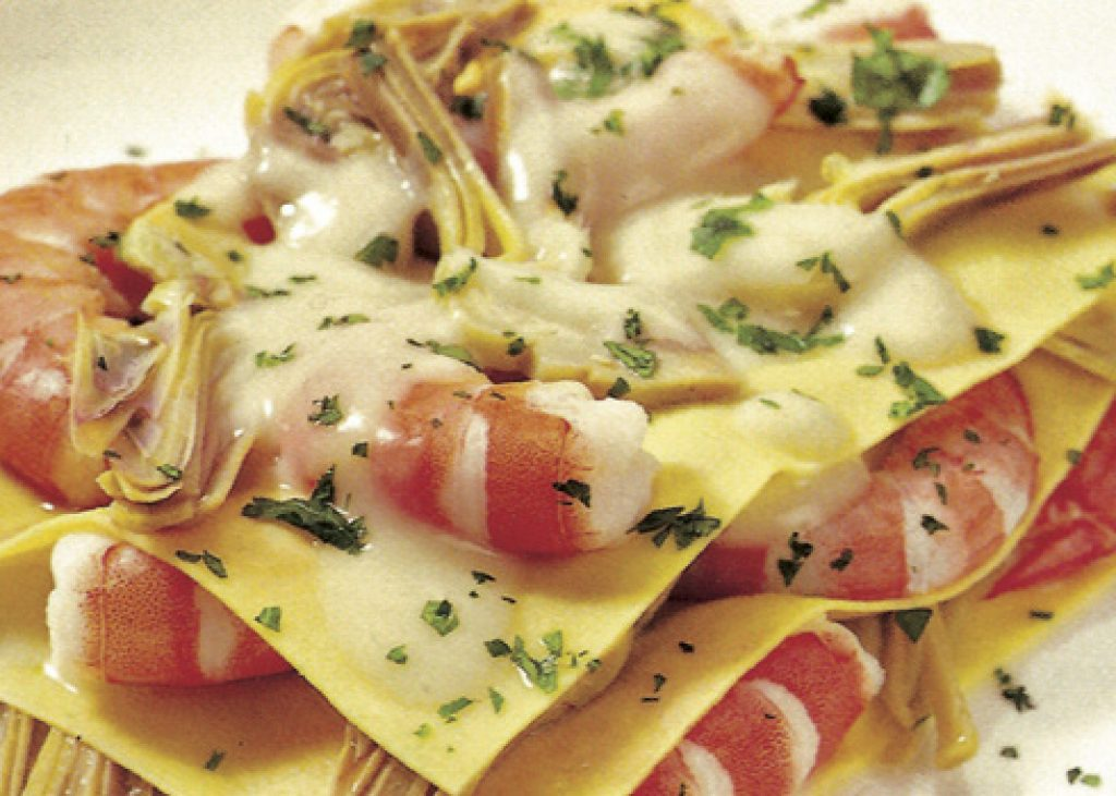 Lasagne-carciofi-e-gamberi