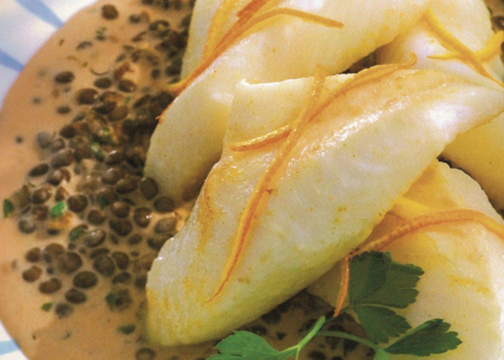 Pesce-san-pietro-su-letto-di-lenticchie