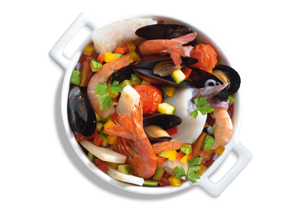 Zuppa di mare senza spine