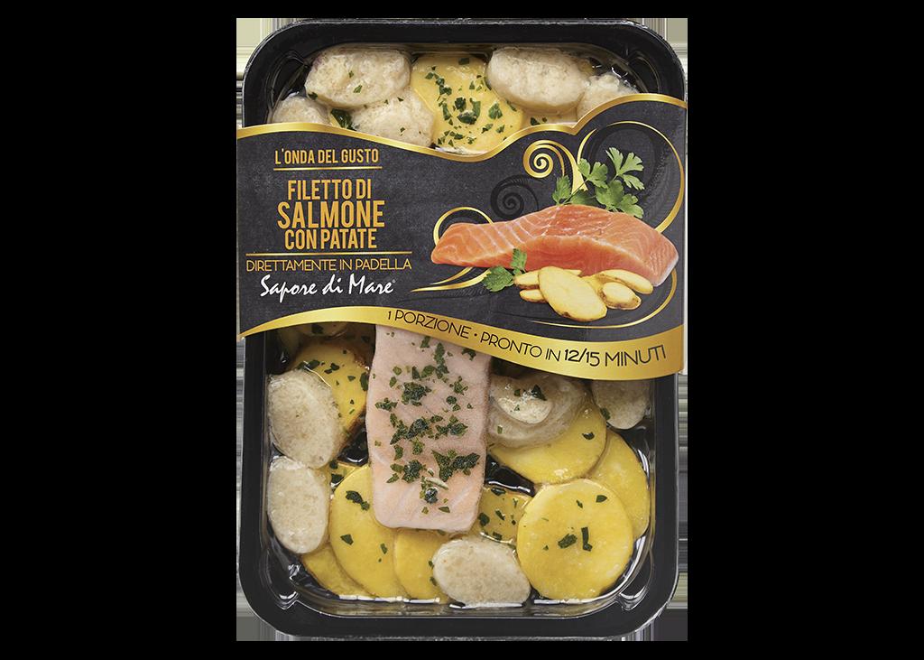 filetto di salmone con patate