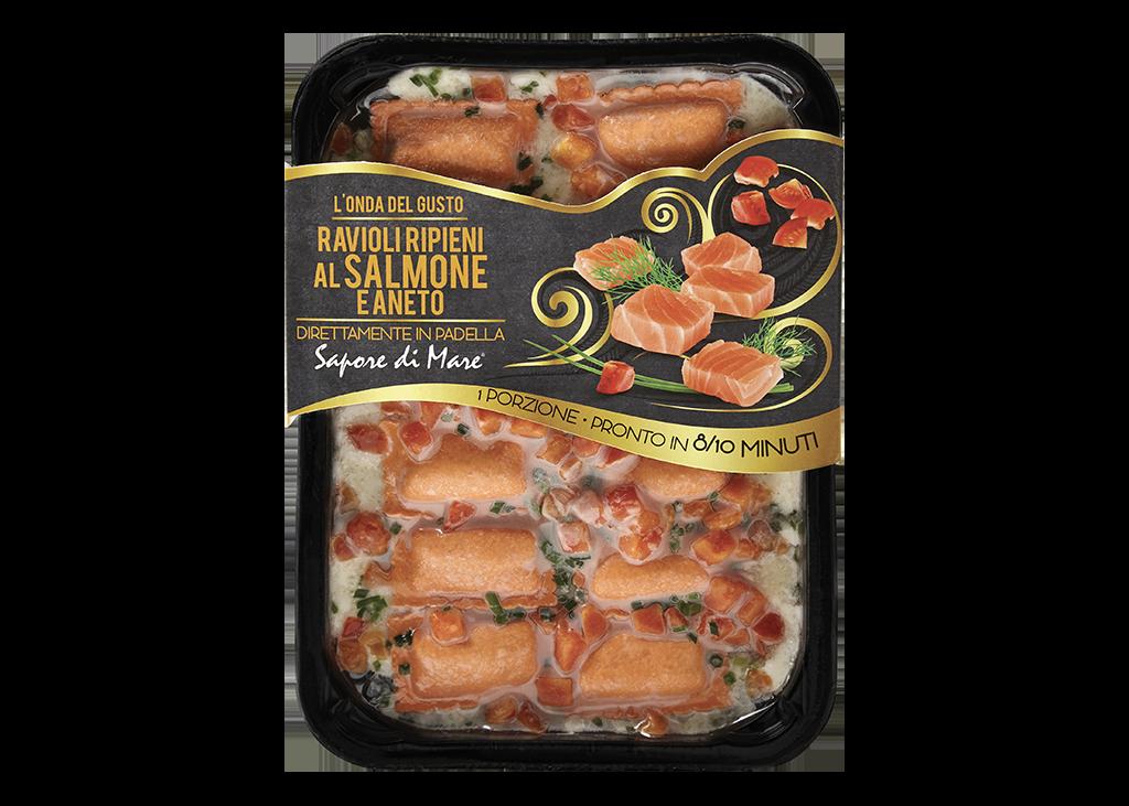 ravioli ripieni al salmone e aneto